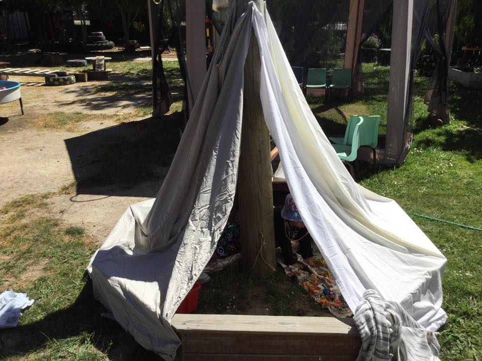 We made a teepee tent