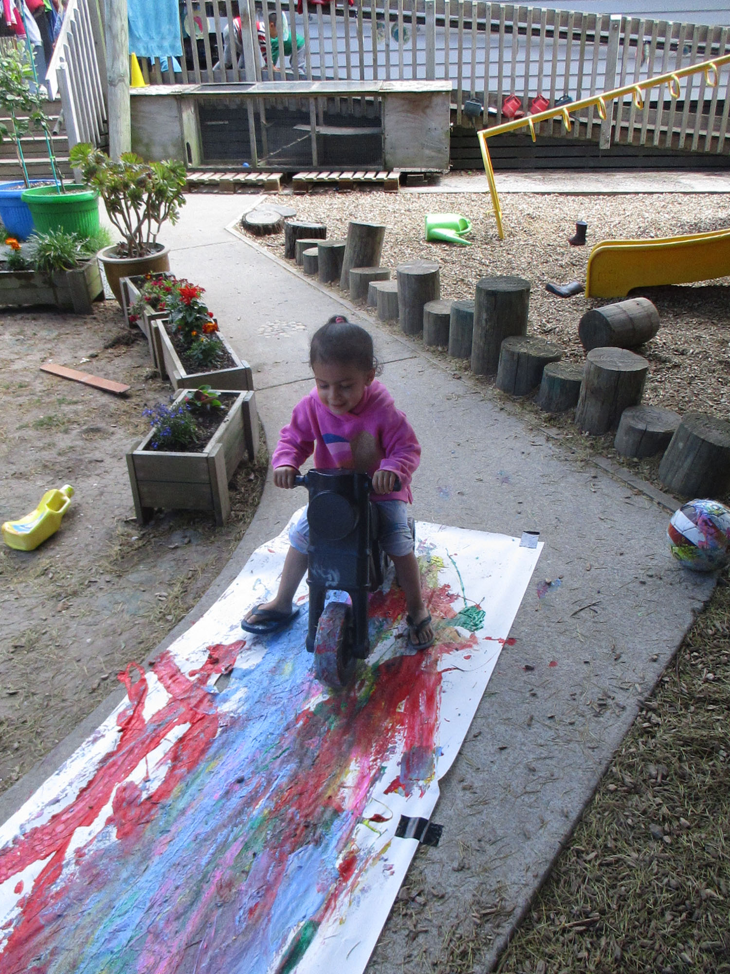 Exploring paint in different ways